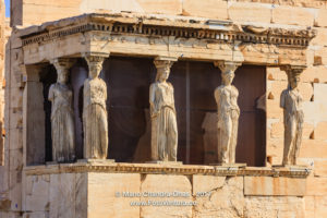 Athens, Greece - Karyatids Porch on the Acropolis co