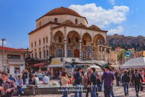 Athens, Greece - Tzistarakis Mosque and people on Monastiraki © Mano Chandra Dhas