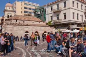 Athens, Greece - People on Monastiraki Square © Mano Chandra Dhas