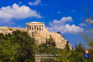 Athens Greece: the Parthenon on the Acropolis in Afternoon Sunlight © Mano Chandra Dhas