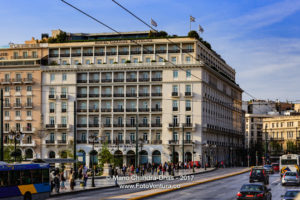 Athens, Greece: Hotel Grand Bretagne on Syntagma Square at Sunset © Mano Chandra Dhas