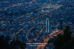 Bogota, Colombia - Viewed from Monserrate After Sunset