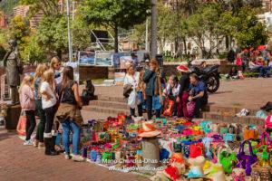 Bogotá, Colombia - The Weekly Flea Market In The Popular Plaza Usaquén
