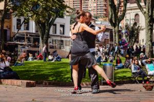 Bogotá, Colombia - Tango At The Mercado de Las Pulgas in Usaquén