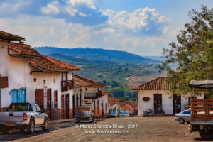 Barichara, Colombia - Looking Downhill On The 300 Year Old Plaza