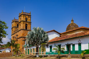 Barichara, Colombia - Historic 18th Century Cathedral on the 300 Year Old Plaza