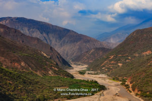 Colombia - The Chicamocha River Winds Through The Canyon In The Santander Department