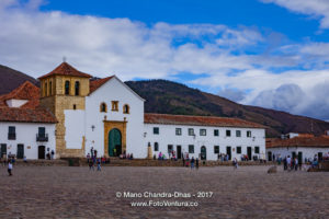 Colombia, South America - Church On Cobblestoned Main Square of 16th Century Villa de Leyva