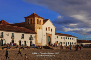 Colombia, South America - Church On Cobblestoned Main Square of Villa de Leyva
