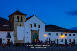 Colombia, South America - Church On Cobblestoned Main Square of Villa de Leyva