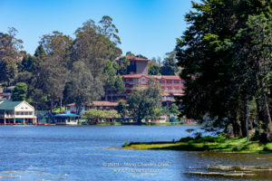 Kodaikanal, South India - Looking Across Kodaikanal Lake Towards The Boathouse And Carlton Hotel,In The Colonial Town In The State Of Tamil Nadu