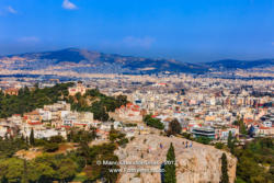 Athens, Greece - View from the Acropolis across Areios Pagos © Mano Chandra Dhas