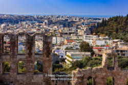Athens, Greece: Looking across ruined facade of Odeon Herodes Atticus © Mano Chandra Dhas