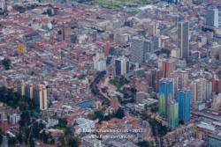 Bogota, Colombia - The Historic La Candelaria District Viewed From Monserrate