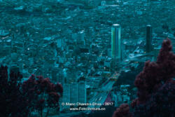 Bogota, Colombia - Downtown District Viewed From The Andean Peak Of Monserrate