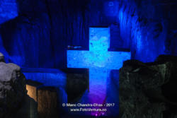 Colombia - interior of the Catedral de Sal in Zipaquirá, located in old Halite Mine