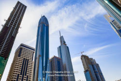 Dubai, UAE - Looking Skywards Beyond Skyscrapers. Limitless Possibilities