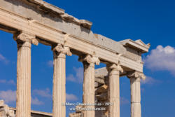 Athens Greece: Marble columns of the Erechtheion on the Acropolis © Mano Chandra Dhas