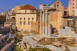 Athens, Greece: Hadrian's Library near Monastiraki Square in Afternoon Sunlight © Mano Chandra Dhas