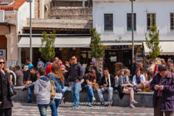 Athens, Greece - People on Monastiraki Square © Mano Chandra Dhas