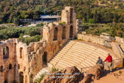Athens - Odeon of Herodes Atticus at the Ancient Acropolis. © Mano Chandra Dhas