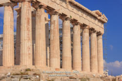 Athens Greece: The Landmark Parthenon on Acropolis; Massive Marble Columns © Mano Chandra Dhas
