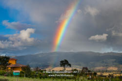 Colombia - A Blazing Rainbow over the Andes Mountains in Subachoque