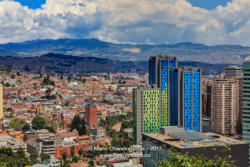 Bogota, Colombia - High Angle View of La Candelaria in the South