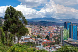 Bogota, Colombia - High Angle View of La Candelaria in Stark Contrast