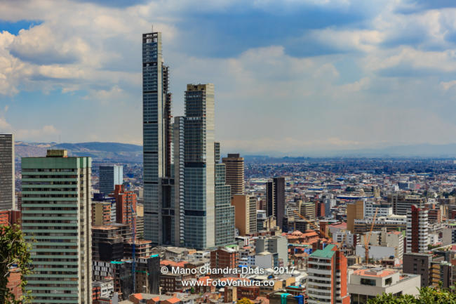 Bogota, Colombia - High Angle View of South American Capital CIt