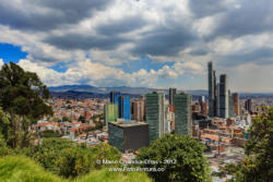 Bogota, Colombia - High Angle View of the South American Capital