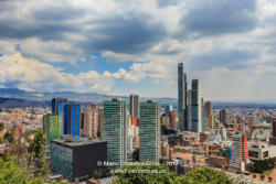 Bogota, Colombia - High Angle View of South American Capital CIty