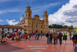 Chiquinquirá, Boyacá Department, Colombia - The Basilica Of Our Lady Of The Rosay On The Main Town Square