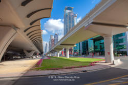 Dubai, United Arab Emirates - New Bridges On Sheikh Zayed Road, Over The Dubai Water Canal; Modern Bridges Where Once Was Only A Desert Road.