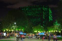 Christmas in Colombia - Decorative LED Lights in Parque De La Noventa Y Tres In The Andean Capital City of Bogotá