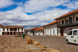 Colombia, South America - Plaza Mayor in historic 16th Century Villa de Leyva